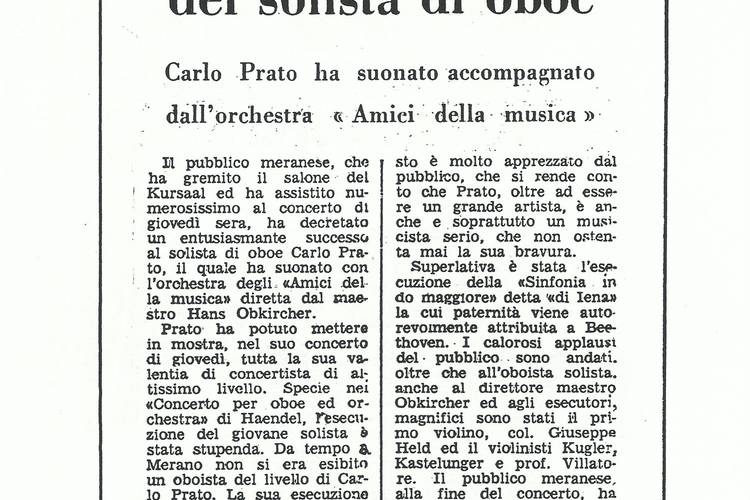 Rezension Alto Adige  20.10.1968