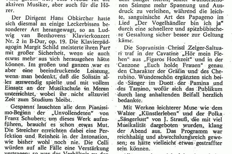 Rezension Dolomiten 01.12.1980