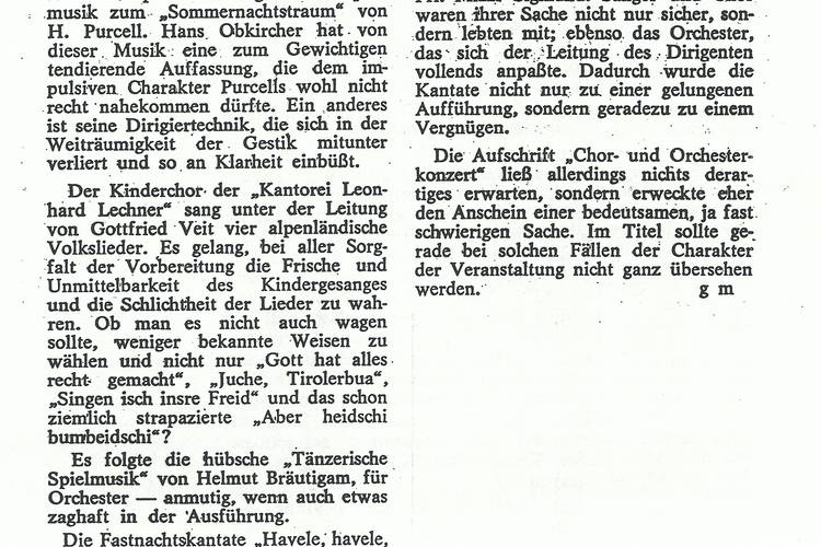 Rezension Dolomiten 03.02.1970