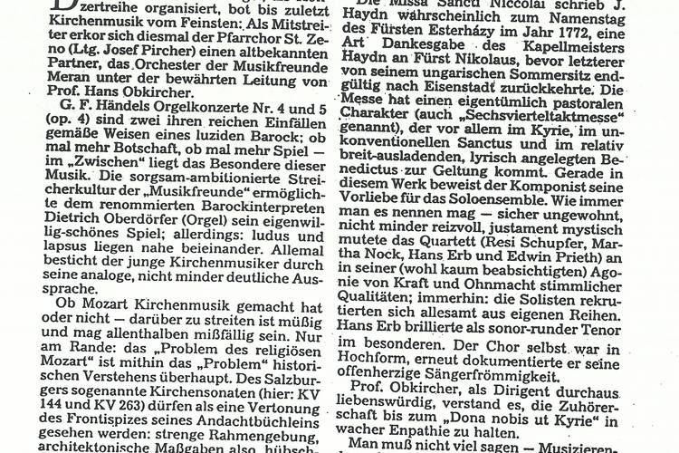 Rezension Dolomiten 03.11.1993