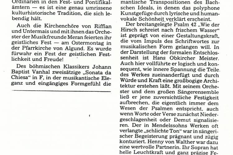 Rezension Dolomiten 05.05.1987