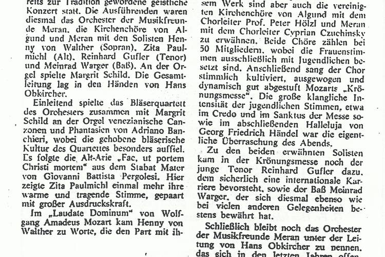 Rezension Dolomiten 06.05.1981