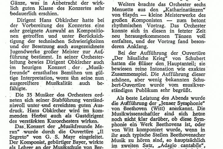 Rezension Dolomiten 06.06.1970