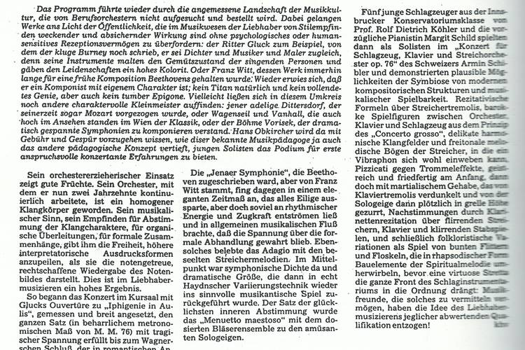Rezension Dolomiten 07.12.1982
