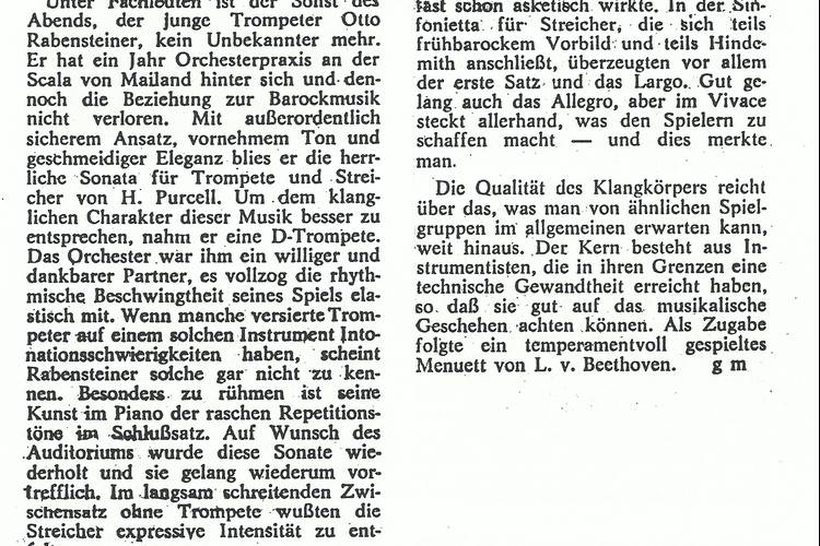 Rezension Dolomiten 09.01.1973