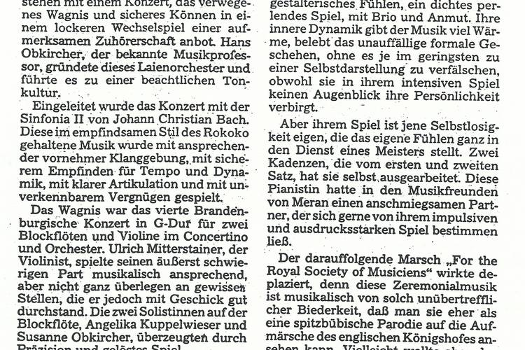 Rezension Dolomiten 10.12.1988