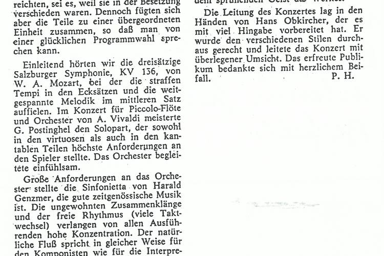 Rezension Dolomiten 11.03.1971