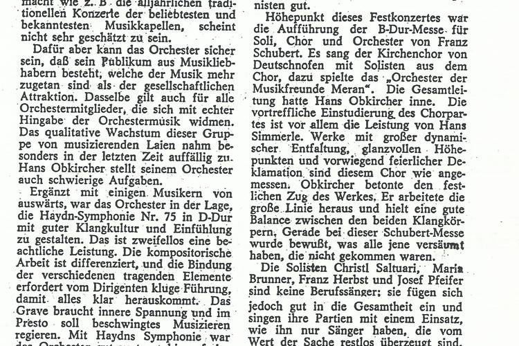 Rezension Dolomiten 12.05.1973