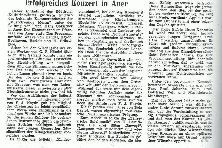 Rezension Dolomiten 13.04.1967