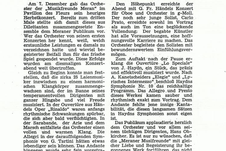 Rezension Dolomiten 15.12.1966