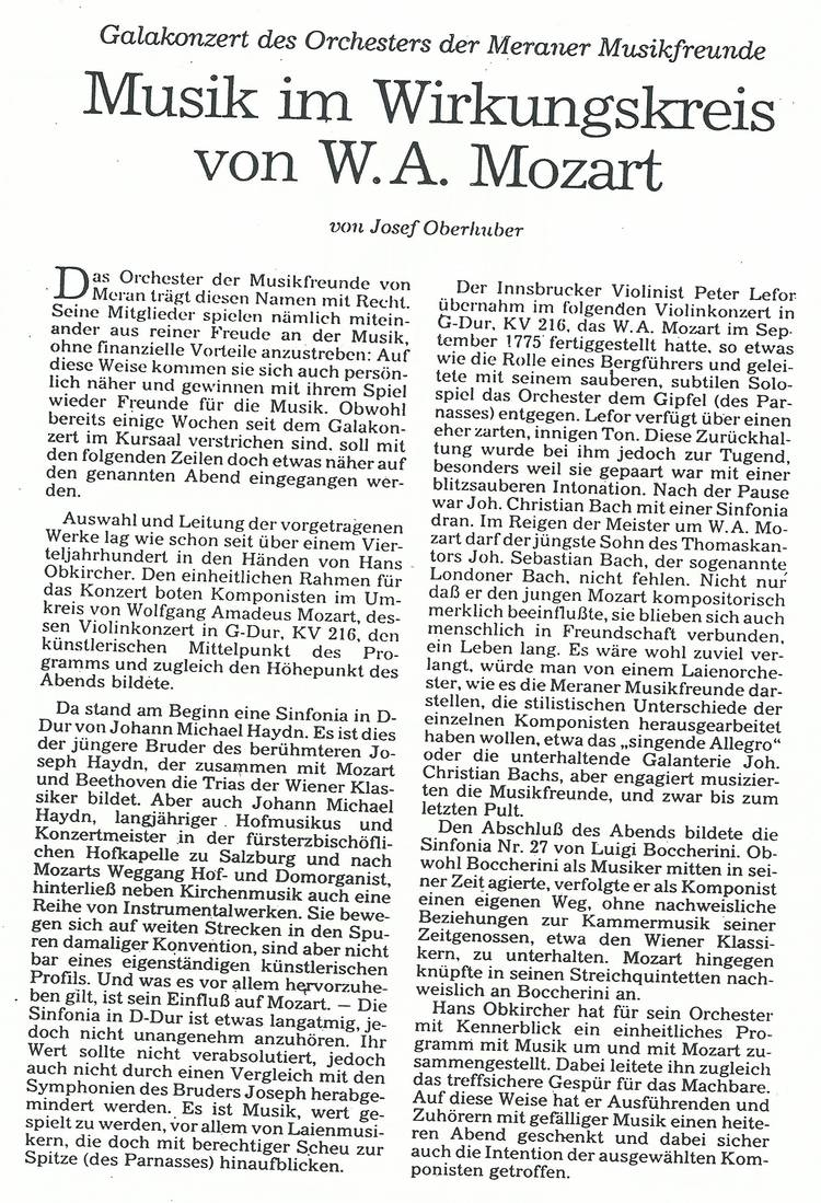 Rezension Dolomiten 18.01.1992