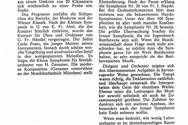 Rezension Dolomiten 22.10.1968
