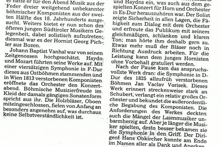 Rezension Dolomiten 27.12.1987