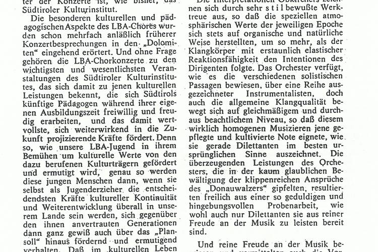 Rezension Dolomiten 29.05.1968